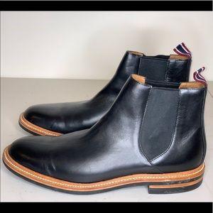 J. Crew Oar Stripe Chelsea Boot in Italian Leather